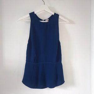 Aritzia, Wilfred, size 2, blue, open back